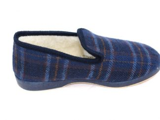 charentaise ecossaise marine fourrée en laine